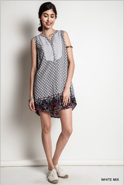 Printed Shirt Dress - BESTSELLER