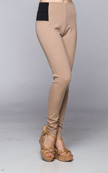"Magic skinny ""jeans""/ Leggings - tan"