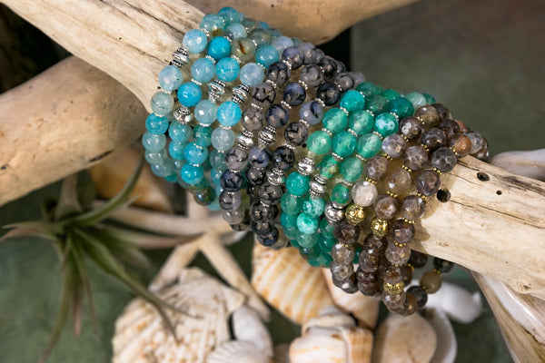 Stackable Stretch Bracelet - Handmade in USA - Boho Layering Bracelets - Festival Accessories - Genuine gemstone bracelet
