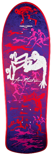 Powell Peralta® Bones Brigade Lance Mountain Future Primitive Purple Reissue Skateboard Deck