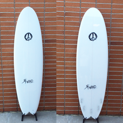 Psycho 5 Physh Shortboard Surfboard with Swallow Tail - White Tint Volan Gloss
