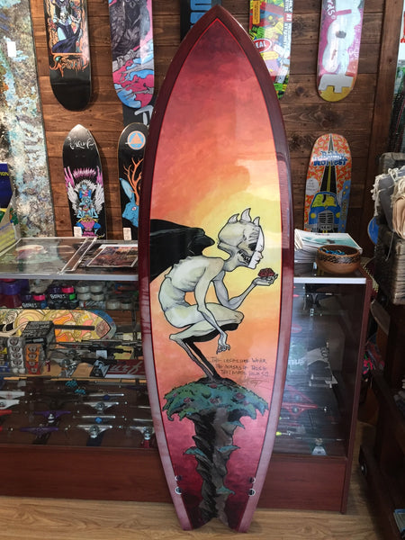 "RWorld Hand-Painted ""Insecurity"" Surfboard"