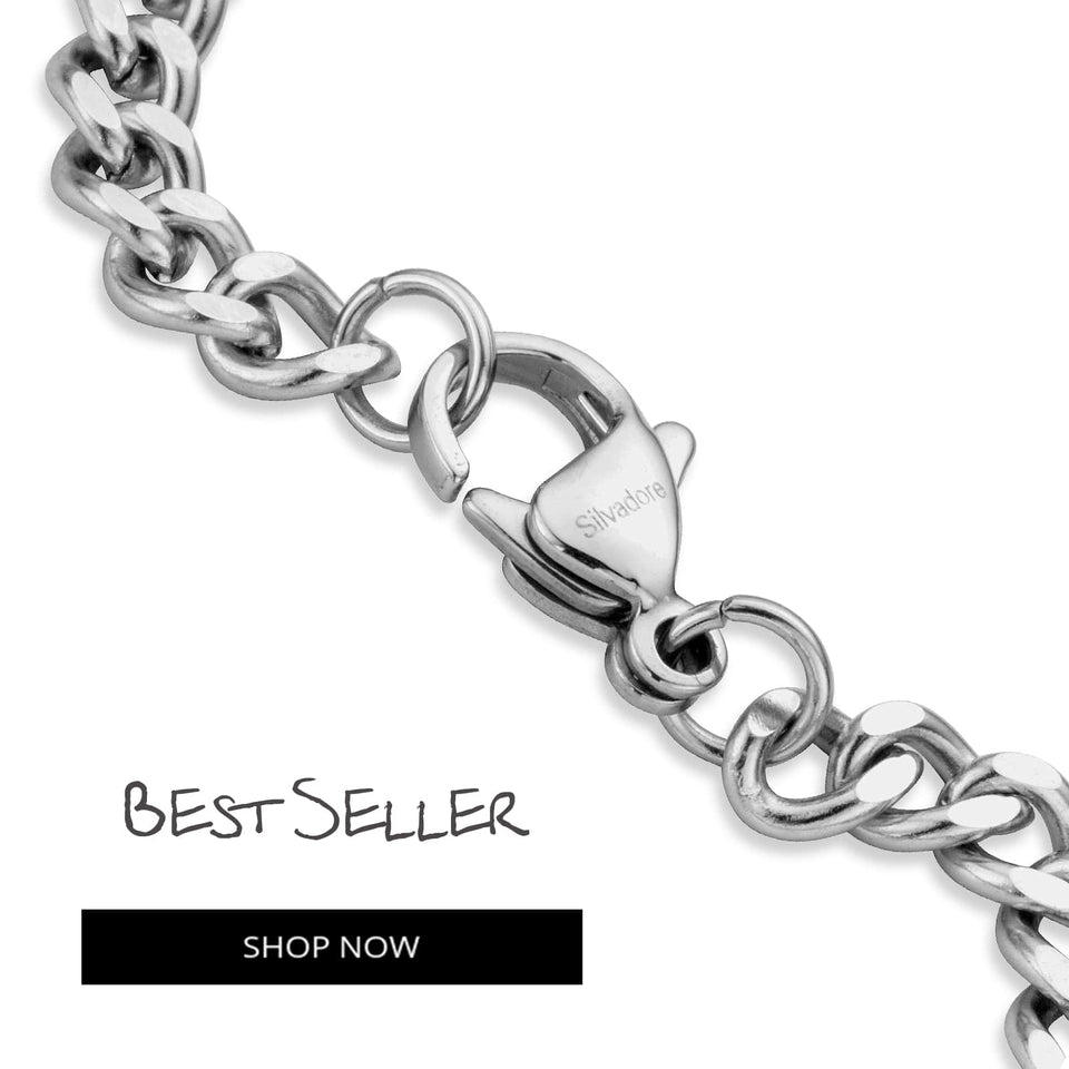 Online Silver Curb Chains for Mens Necklace