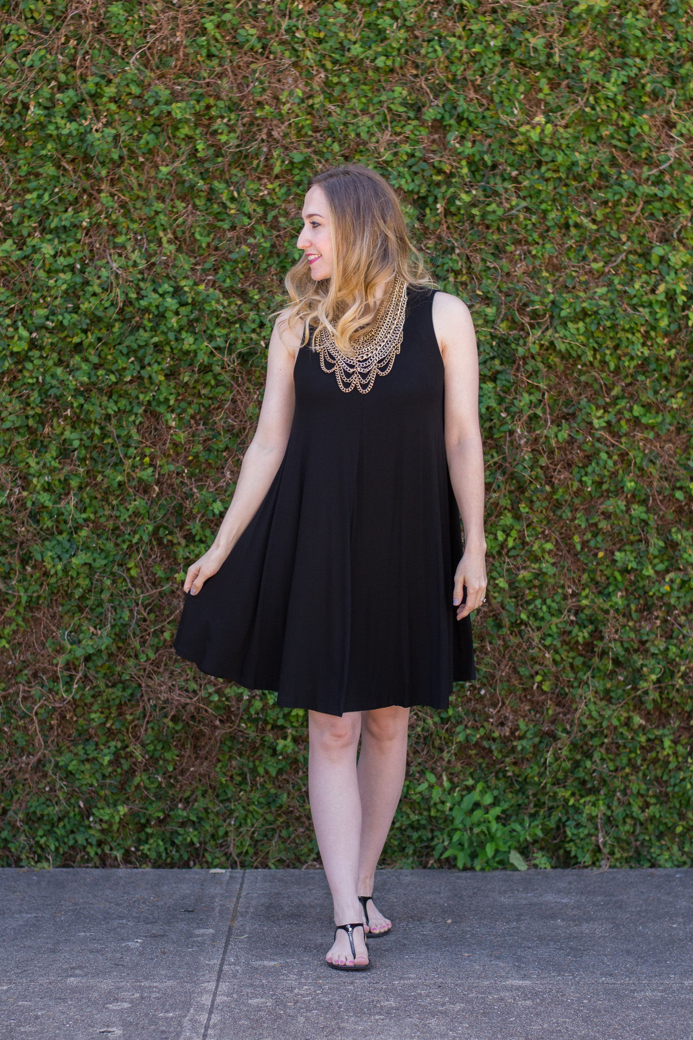 Black Basic Summer Dress