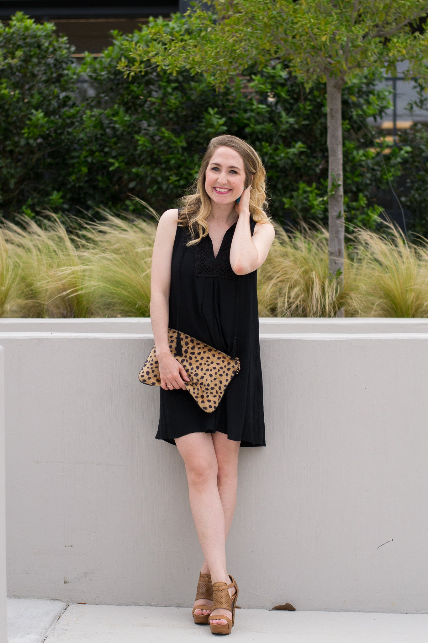 Little Black Summer Dress with tassel detail