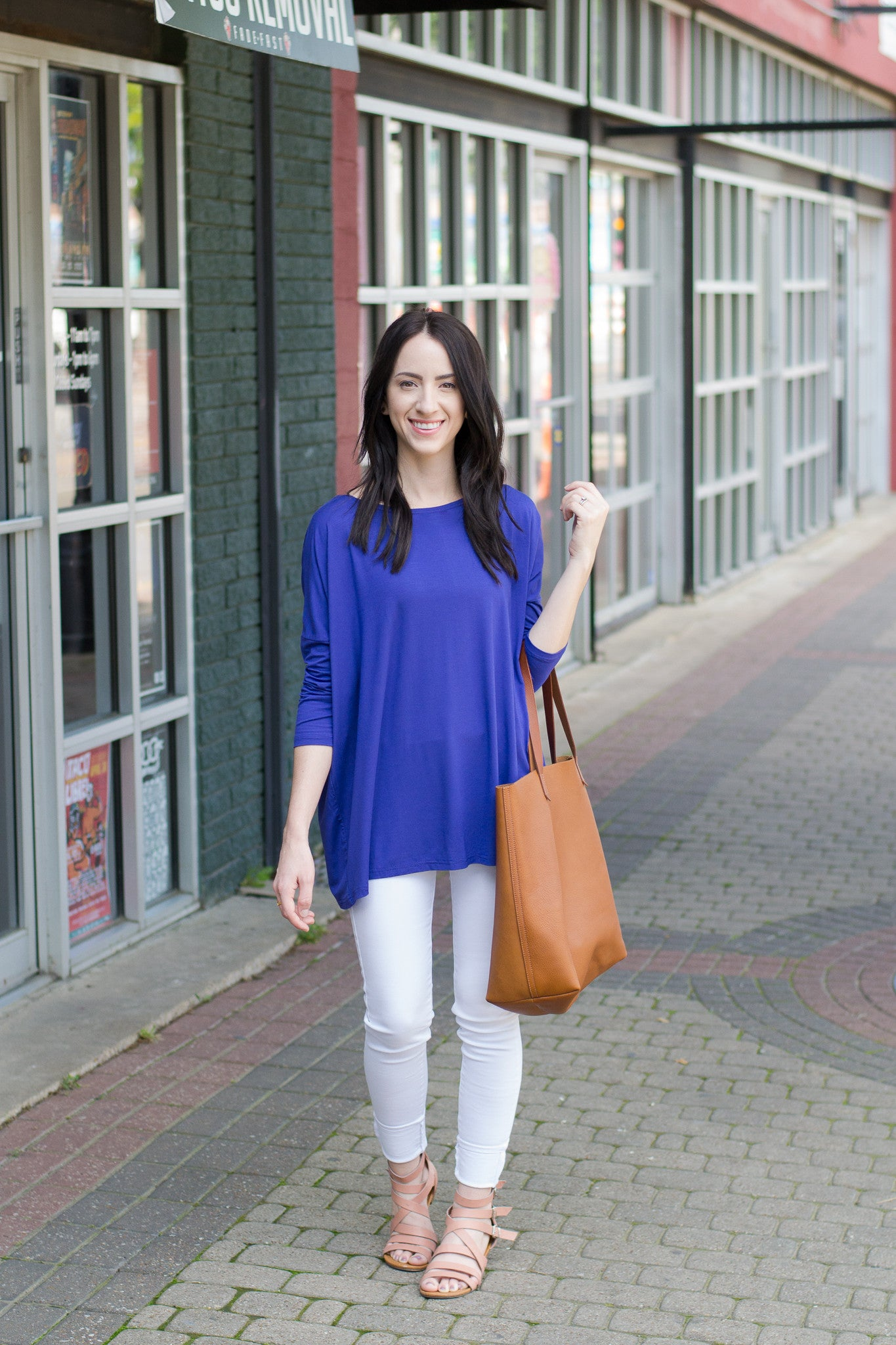 Royal blue Piko Top