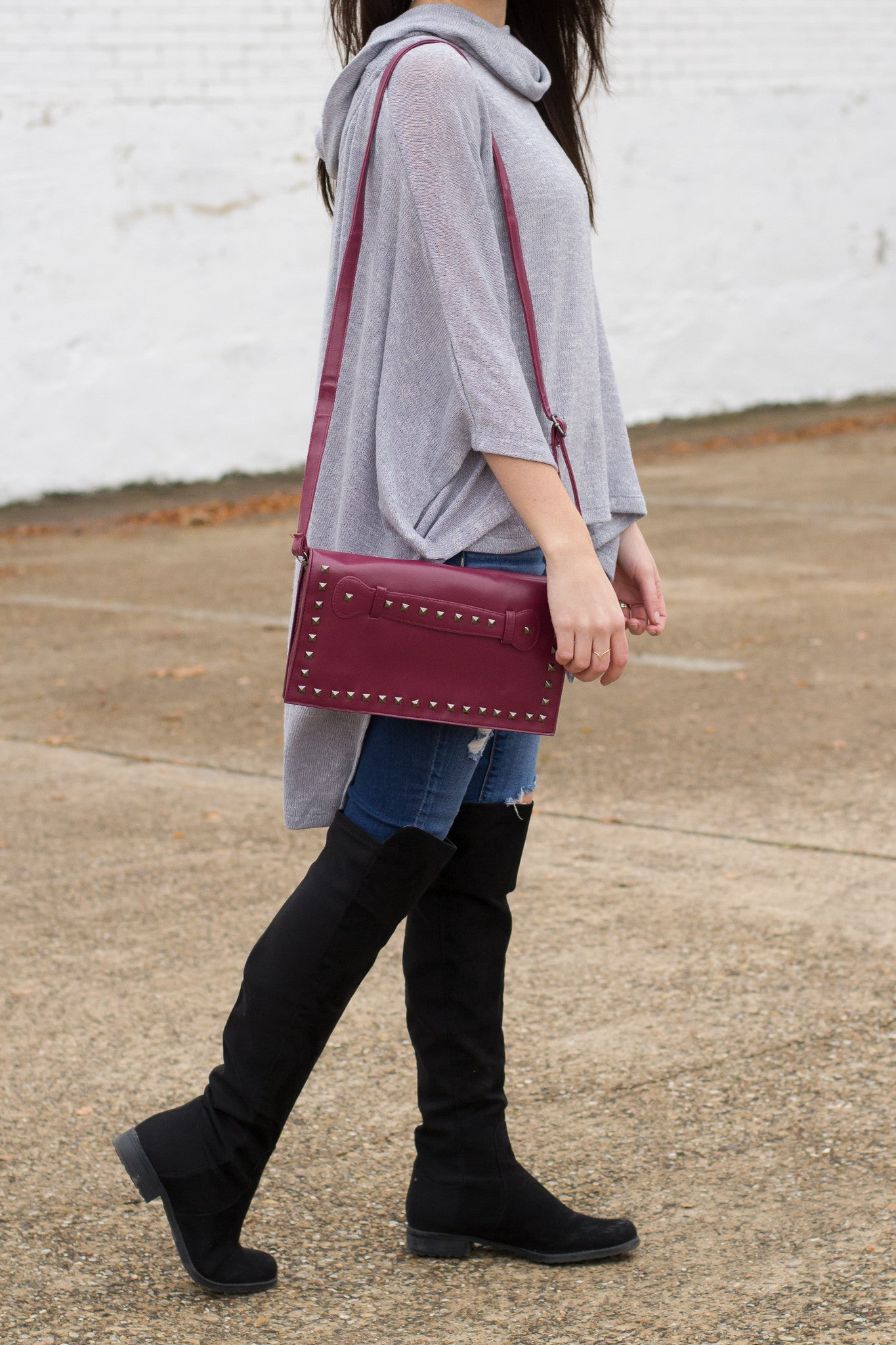Fall Clutch with Shoulder Strap