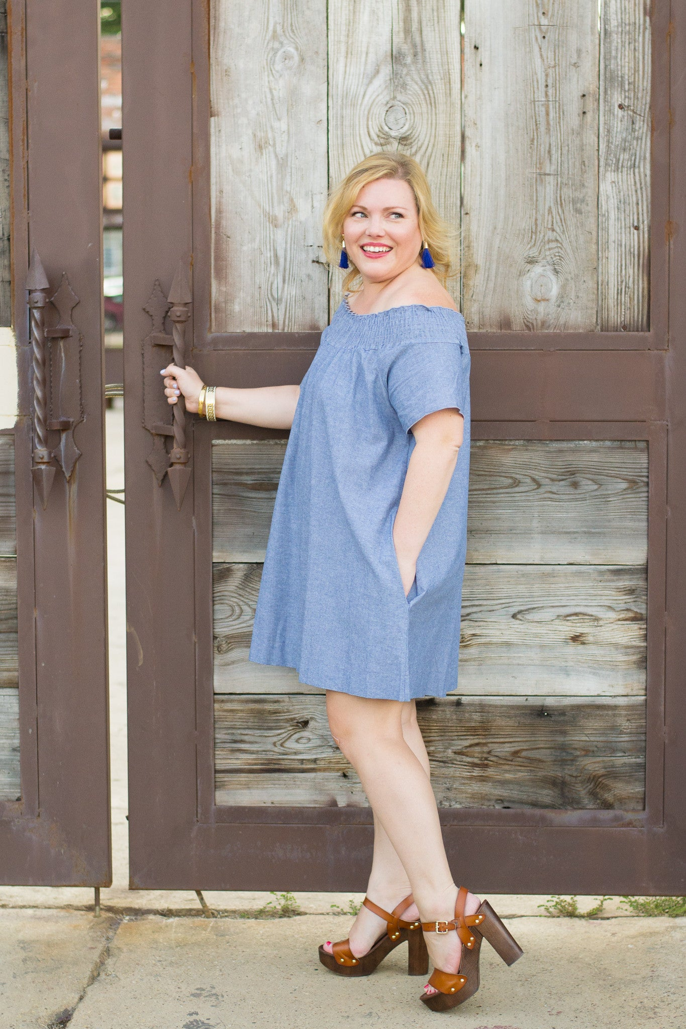 Chambray_Off_the_Shoulder_Dress
