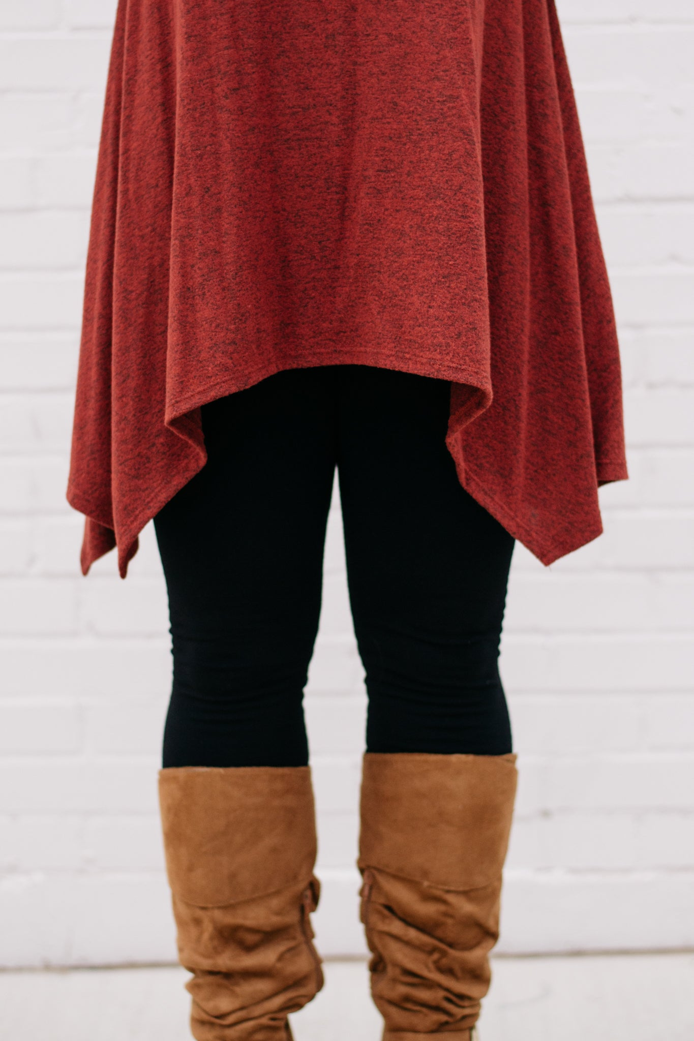 Asymmetrical Hem Long Sleeve Tunic