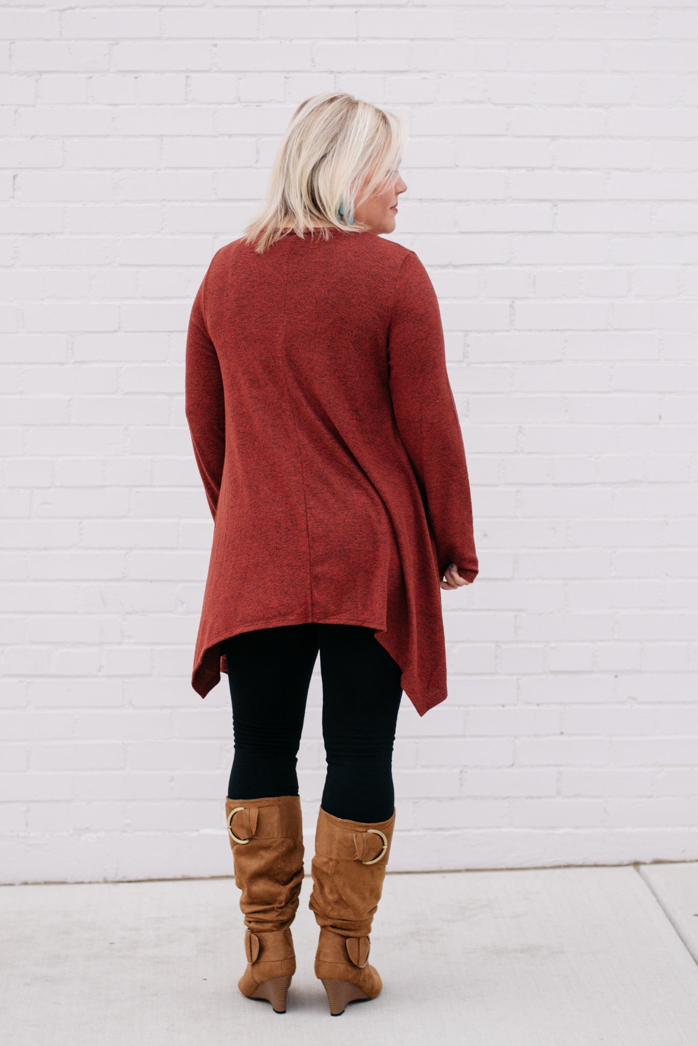 Long Sleeve Asymmetrical Tunic