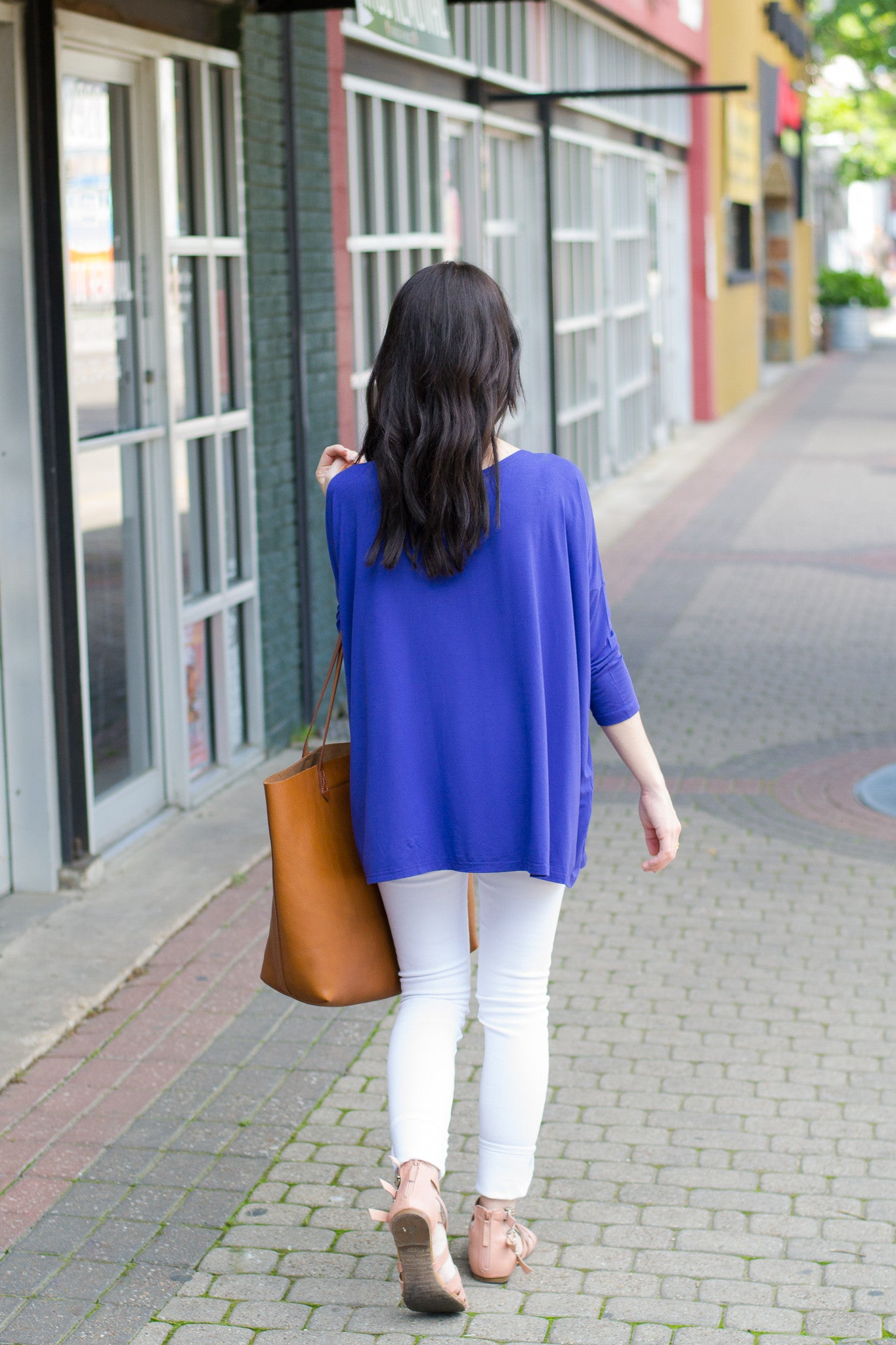 3/4 sleeve Piko top