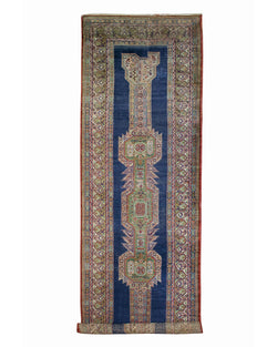 "Antique Blue Runner - 3'9"" x 12'5"""