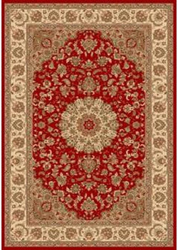 Bostan 1921 Red - Oval - 5' X 7' (152cm x 213cm)