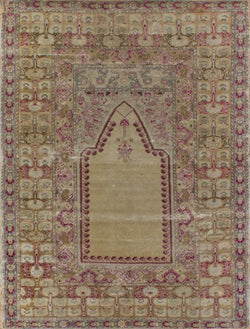 "Antique Prayer Cream/Gold - 4'7"" x 6'0"" (140cm x 183cm)"