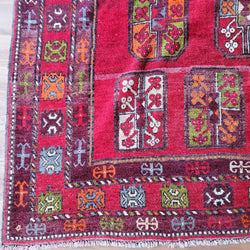 Vintage Morocco Philpa - Red 7' x 10'3""
