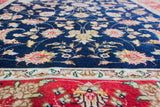 "Tabriz 30 Silk N.Blue All Over - 4'0"" x 5'11"""