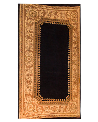 "Aubusson Knotted Black - 5'0"" x 8'0"" (152cm x 244cm)"