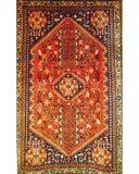 "Abadeh 190 Red - 3'3"" x 5'3"" (100cm x 161cm)"
