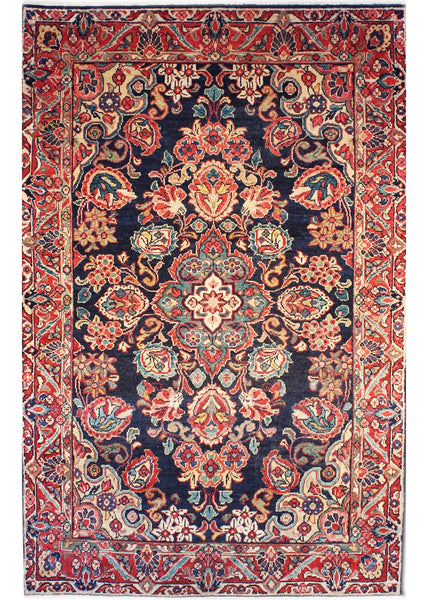 "Area rug for living space and any room. Floor decor, rugs and carpets from Tabrizi Rugs. Mahal Antique - 4'3"" x 6'7"" (130cm x 200cm). Canada's most trusted website to buy rugs online."