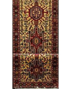"Hamadan 110 Red Runner - 2'4"" x 9'3"" (70cm x 282cm)"