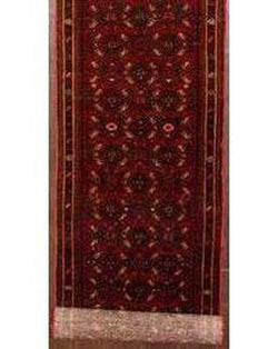 "Hamadan 200 Red Runner - 2'4"" x 13'1"" (70cm x 400cm)"