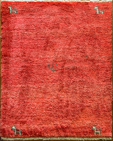 "Gabbeh 53.35 Red - 3'0"" x 3'10"""
