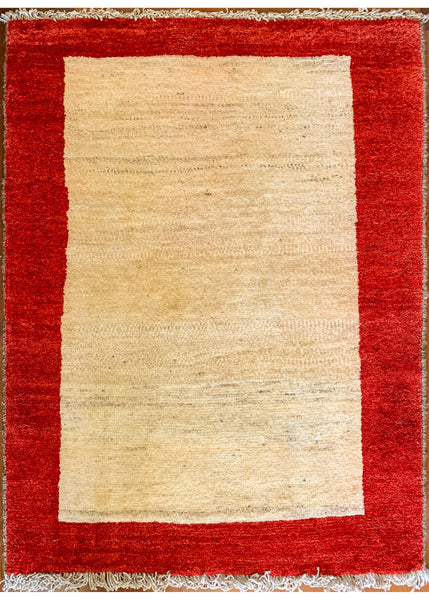 "Gabbeh Ivory / Red -62.95 - 3'1"" x 4'5"""