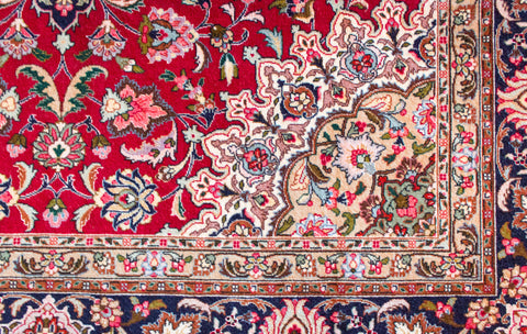 "Tabriz wool & silk  5' 1"" x 7' 0"""