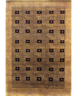 "Gabbeh Lori Buff Brown - 4'6"" x 6'5"""