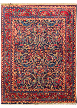 "Semi Antique Mashad 4'8"" x 5'11"" (143cm x 180cm)"