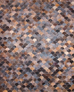 "Cowhide 891 Chocolate - 8'0"" x 10'0"""