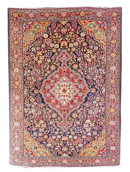 "Malayer Antique Blue - 4'5"" x 6'8"" (135cm x 203cm)"