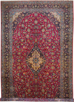 "Kashan Royal Red - 10'2"" x 17'2"" (310cm x 523cm)"