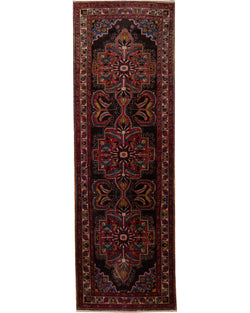 "Lilian Antique  Black 3'4"" x 10'6"" (101cm x 320cm)"