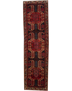 "Hamadan Runner Antique  2'9"" x 10'3"" (84cm x 312cm)"