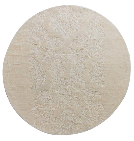 Amar 90 Tufted Ivory - Round - Multiple Sizes