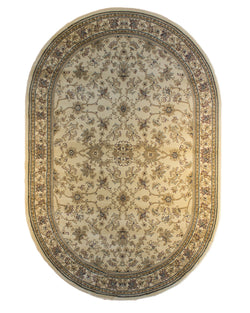 Bostan 123 Cream - Oval - Multiple sizes