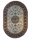 Bostan 1921 Cream/Red - Oval - 5' X 7' (152cm x 213cm)