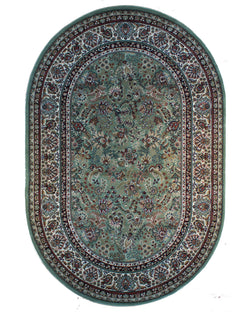 Bostan 70 Green - Oval - 5' X 7' (152cm x 213cm)