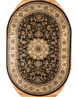Bostan 1921 Black 5' x 7' (152cm x 213cm) Oval