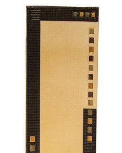 Golden 1283 Cream/Black Runner - 3' x 10' (91cm x 305cm)