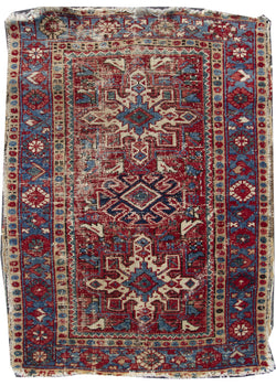 "Antique Heriz Brown Red - 3'1"" x 4'3"""