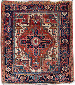 "Antique Heriz Brown - 3'5"" x 4'1"""