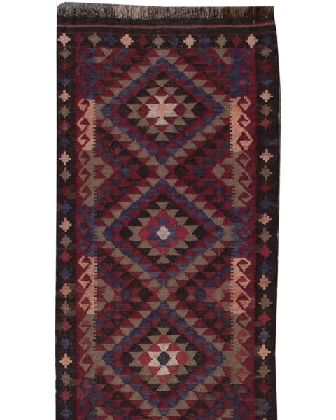 "Afghan Killam Multi- 2'5""x12'6"""