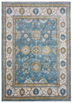 Oushak Light Blue/Ivory -  10'2' x 14' (311cm x 427cm)