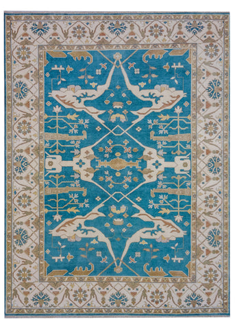 Oushak Light Blue/Ivory - Multiple Sizes