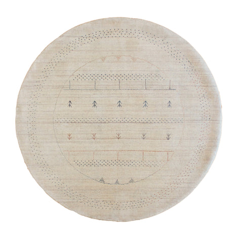 Gabbeh Pouyalori Ivory Round - Multiple Sizes