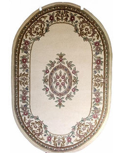 Sangam Tufted Ivory - Oval - Multiple Sizes