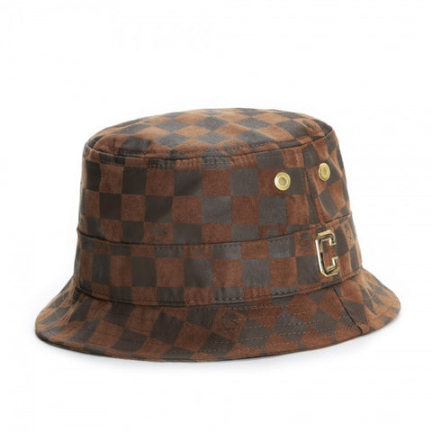 C&S GLD CHECKERS BUCKET HAT