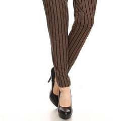 Olive, black, stripe pants,semi harm loose fit pants with pockets on sides, a front self tie, and ruffled.